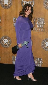 Lorraine Bracco at the 14th annual Screen Actors Guild awards, in the press room.
