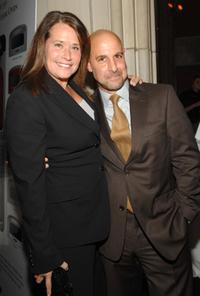 Lorraine Bracco and Stanley Tucci at the Annual Holiday Auction and Dinner.