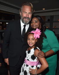 Kevin Costner, Jillian Estell and Octavia Spencer at the after party of