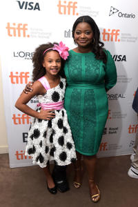 Jillian Estell and Octavia Spencer at the premiere of