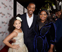 Jillian Estell, Anthony Mackie and Octavia Spencer at the California premiere of