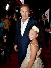 Kevin Costner and Jillian Estell at the California premiere of