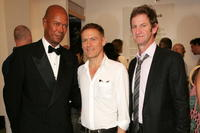 Michael Roberts, Bryan Adams and Mark Seliger at the Mark Seliger's 401 Projects'