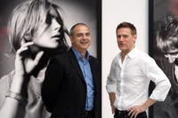 Valentin Chapero and Bryan Adams at the exhibition