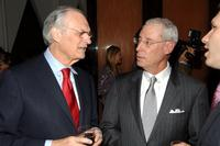 Alan Alda and producer Henry Schleiff at the party to celebrate the publication of Grodins book