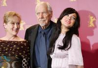 Robert Altman, Lindsay Lohan and Meryl Streep at the 56th Berlinale Film Festival.
