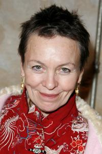 Laurie Anderson at the performance of Shakespeare's Macbeth to benefit Brooklyn Academy of Music.