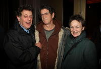 Philip Glass, Lou Reed and Laurie Anderson at the screening of