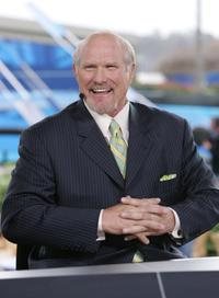 Terry Bradshaw at the FOX Broadcast booth during the XXXIX Superbowl pregame show.