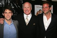 Justin Bartha, Terry Bradshaw and Bradley Cooper at the premiere of