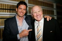 Director Tom Dey and Terry Bradshaw at the premiere of