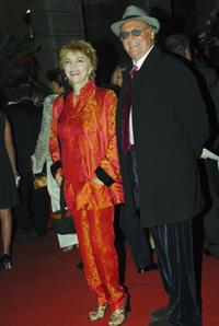 Mariangela Melato and Renzo Arbore at the opening night of Rome Film Festival.