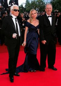 Denys Arcand, Karl Lagerfeld and Diane Kruger at the 60th International Cannes Film Festival.