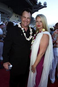 Dan Aykroyd and his wife Donna Dixon at the World premiere of