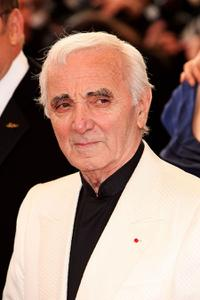 Charles Aznavour at the premiere of