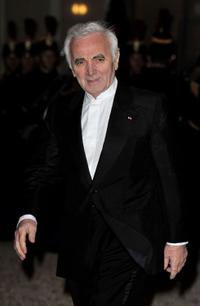 Charles Aznavour at the state dinner in France.