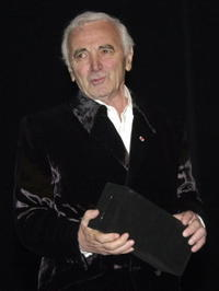 Charles Aznavour at the opening ceremony of the 30th Cairo International Film Festival.