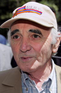 Charles Aznavour at the 58th edition of the Cannes International Film Festival.