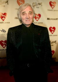 Charles Aznavour at the Musicares 2004 Person of the Year Tribute to Sting.