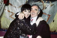 Liza Minnelli and Charles Aznavour at the New Year Eve celebration.