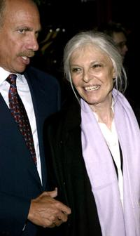 Anne Bancroft and Robert Sillerman at the opening night party for