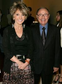 Sheila Nevins and Peter Bart at the premiere of