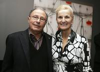 Peter Bart and Phyllis Fredette at the GQ/American Cinematheque Pre-Golden Globe Party.