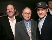 Producer Harvey Weinstein, Peter Bart and Kevin Spacey at the cocktail party hosted by Harvey and Bob Weinstein and Miramax Books.