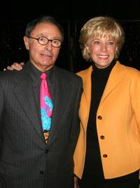 Peter Bart and Leslie Stahl at the Bart's book launch party of
