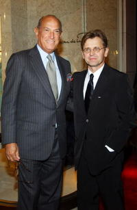 Mikhail Baryshnikov and Oscar de la Renta at the newly opened Oscar de la Renta Boutique.