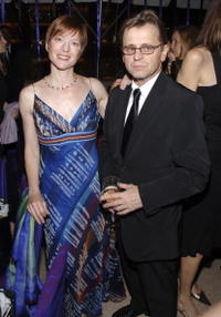 Mikhail Baryshnikov and Lisa Rinehart at the opening night of the New York City Ballet's
