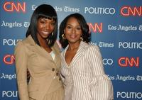 Brandy and Kerry Washignton at the CNN, LA Times, POLITICO Democratic debate.