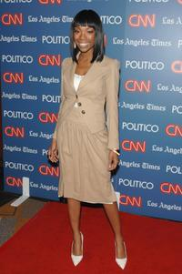 Brandy at the CNN, LA Times, POLITICO Democratic debate.