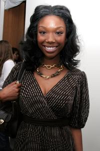 Brandy at the Olympus Fashion Week.