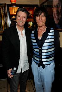 David Bowie and Jeff Beck at the Les Paul's 95th Birthday.