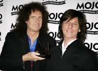Brian May and Jeff Beck at the MOJO Honours List Awards.