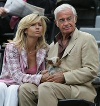 Jean-Paul Belmondo and wife whife Naty during the French Open in Paris.