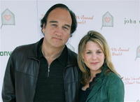 James Belushi and his wife Jennifer at the John Varvatos 4th Annual Stuart House Benefit.