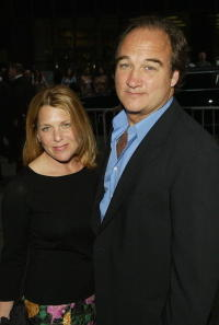 James Belushi and his wife at the ABC Network All-Star Party.
