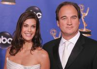 James Belushi and Teri Hatcher at the 56th Annual Primetime Emmy Awards.