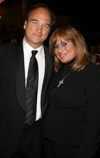 James Belushi and Penny Marshall at the inaugural of the Billies presented by The Women's Sports Foundation.