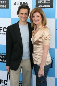 Lawrence Bender and Arianna Huffington at the 22nd Annual Film Independent Spirit Awards.