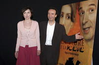 Nicoletta Braschi and Roberto Benigni at the promotion of