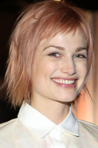 Alison Sudol at the ICB fashion show in New York City.