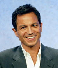 Benjamin Bratt at the panel discussion for 'E-Ring' in Beverly Hills, California.