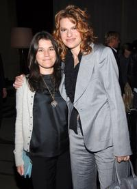 Sandra Bernhard and Sara Switzer at the Cinema Society and the Wall Street Journal after party for