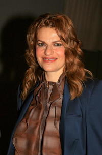 Sandra Bernhard at the Olympus Fashion Week.