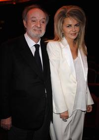 Claude Berri and Nathalie Rheims at the Cesar Film Awards 2008.