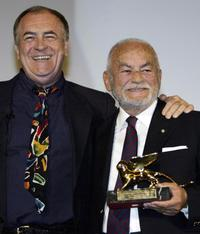 Bernardo Bertolucci and Dino De Laurentiis the 60th International Venice Film Festival.