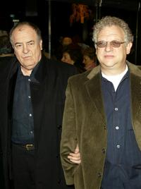 Bernardo Bertolucci and Jeremy Thomas at the New York premiere of